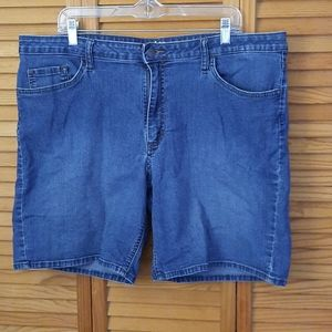 Lee Riders Midrise Short Jean Shorts Size 20M